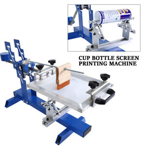 Manual Curve Screen Cylinder Printer Printing Machine Bottle Cup Mug Used Sale