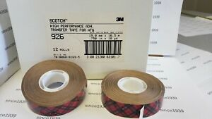 3m 926 3 4 X 18 Yd Double Sided Transfer Tape 12 Roll Box