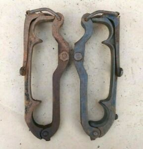 1909 1927 Top Bow Saddles Clamps Original Pair 462 Model T Ford Dodge