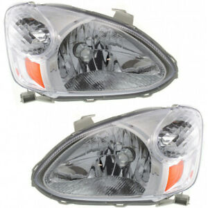 Fits 2003 2004 2005 Toyota Echo Head Light Assembly Pair Capa Certified