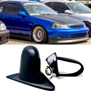 Fit 96 00 Civic 2 3dr Pair Powered Adjustable Spoon Style Jdm Side View Mirror