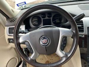 2007 2008 Cadillac Escalade Steering Wheel Only Without Airbag Woodgrain Oem