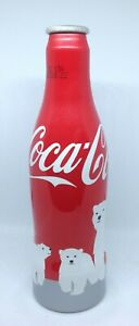 *S* Coca-Cola Aluminum Bottles (Bears) From France 2012 --Empty--