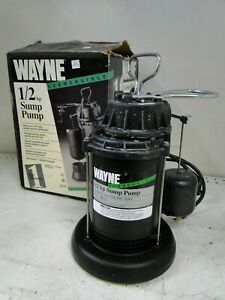 Wayne Spf50 1 2 Hp Thermoplastic Submersible Sump Pump W Vertical Float