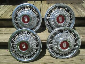 80 81 82 Ford Ltd 81 82 Mercury Marquis Wire Spoke Hubcaps Set Of 4