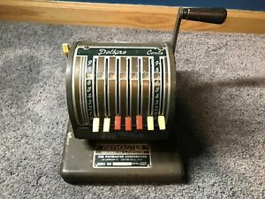 Vintage Paymaster Check Writer Series 500 Rare Working Model Keyless Tested