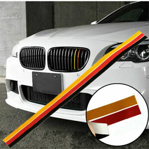 3 Color Grille Grill Vinyl Strip Sticker Decal For Bmw M3 M5 E46 E90 German Flag