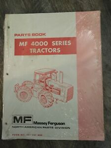 Massey Ferguson Mf 4000 Series Tractors Parts Book New Never Used