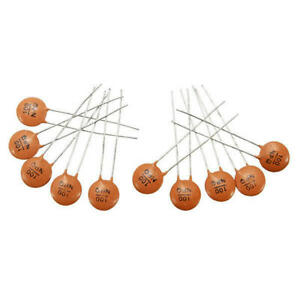 Ceramic Disc Capacitor 50v 2pf 100nf 104 10 Pieces Us Seller Fast Shipping