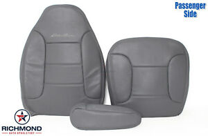 92 96 Ford Bronco Eddie Bauer Passenger Side Complete Leather Seat Covers Gray