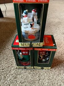 1997 Coca - Cola  Musical Collection. Set Of 3. New In Box