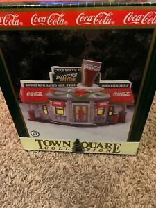 Vintage Coca Cola Town Square Christmas Village Collection - Scooter's Drive In