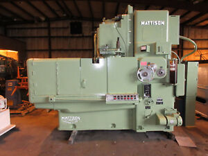 Mattison Vertical Rotary Surface Grinder Model 24 42 42 Chuck
