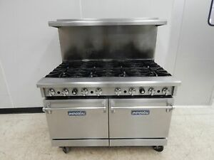 Imperial 48 8 burner Gas Range Std Ovens Model Ir 8