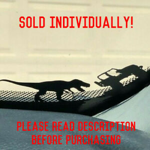 For Jeep T rex Sticker Tyrannosaurus Windshield Easter Egg Decal Wranger Jk Yj