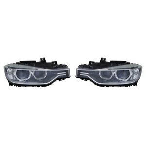 Fits 2012 2015 Bmw 328i Head Light Pair W O Bulbs And Ballast Hid