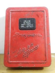 Snap On Db160 Wire Gauge Drill Bit Set Metal Case Only