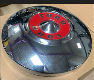 1957 1958 1959 Ford Hubcap Dogdish Wheelcover 10 1 2 Fomoco 57 58 59 Nos