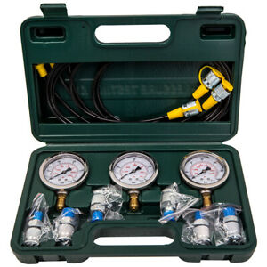 Hydraulic Pressure Testing Gauge Diagnostic Couplings Kit For Excavator