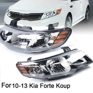 2010 2013 Chrome Housing Led Headlights Pair Fits Kia Forte Forte Koup 4 door