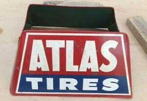 Vintage Atlas Tires Display Rack Stand Holder Original S 1 S s