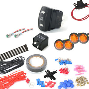 Universal Can Am Turn Signal Led Marker Light Kit With On Off One Rocker Switch