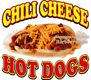 Chili Cheese Hot Dogs Decal choose Your Size Food Truck Concession Sticker