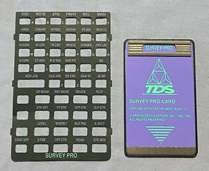 Tds Survey Pro Card For Hp 48gx Calculator version 6 3