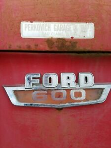 1965 62 63 64 66 Ford Truck N600 Stubnose Ford 600 Cowl Emblems Pair F600