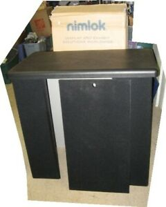 Nimlok Encounter Free Standing Trade Show Counter Display Plastic Top Excellent