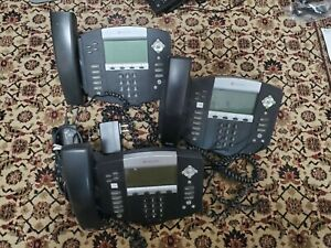 Lot Of 3 Polycom Soundpoint Sip 550 Ip550 Desktop Poe Phone Voip Phone Used
