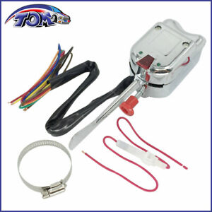 New Chrome 12v Universal Street Hot Rod Turn Signal Switch For Ford Gm Buick