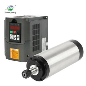 4 Bearing Er20 2 2kw Water Cooled Motor Spindle And 2 2kw Drive Inverter Vfd Cnc