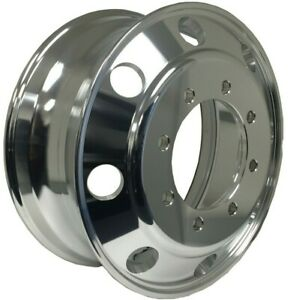 19 5x7 5 Aluminum Truck Wheel Rims Alcoa Style 8x275 Polished Outside Fit Front
