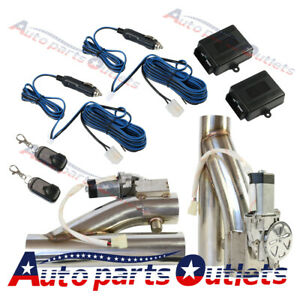 2 5 2pcs Electric Exhaust Downpipe E Cut Out Valve Controller Remote Kit New