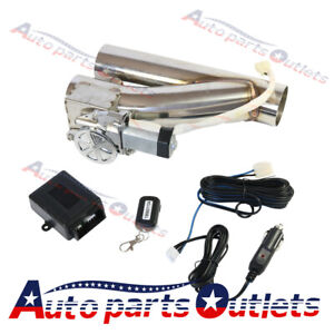 New 2 5 Electric Exhaust Downpipe E Cut Out Valve Controller Remote Kit