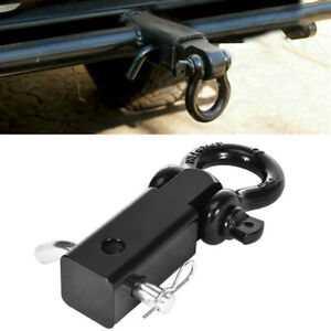 Trailer Hitch Shackle Bracket 2 Receiver 3 4in Recovery D ring For Trucks Jeeps