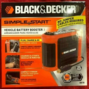 New Black Decker Simple Start Vehicle Battery Booster Bb7b In Box For Parts