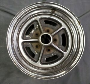 1 Buick Road Wheel 1968 1987 Code 991 Rally Rims 14x6 W 5x4 3 4 Bolt Pattern