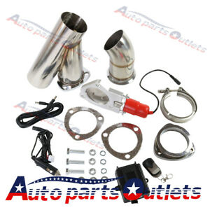 Electric Exhaust Muffler Valve Cutout System Dump Wireless Remote 76mm 3 Inch
