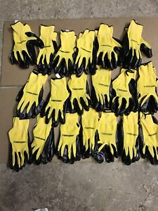 19 pairs Firm Grip Nitrile Coated Large Work Gloves Outdoor Construction No slip