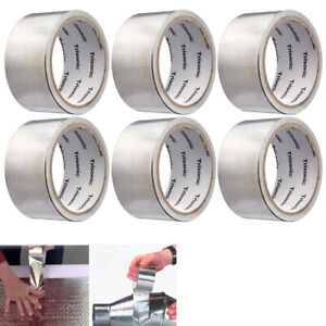 6 Pack Aluminum Foil Tape 1 89x10 Yards Hvac Tape Work Furnace Heating Ac Ducts