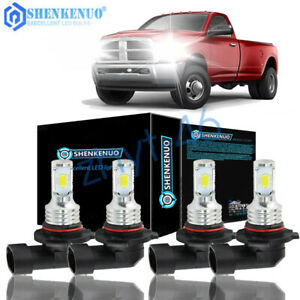 For Dodge Ram 1500 2500 350 2016 2018 Combo 9005 9006 Hi Low Led Headlight Bulbs