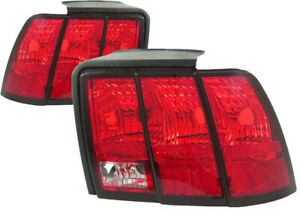 For 1999 2000 2001 2002 2003 2004 Ford Mustang Tail Lights Pair Set