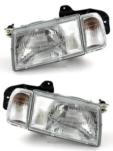 For 1990 1997 Geo Tracker Chevrolet Tracker Headlights Pair Set