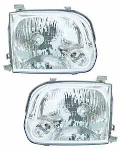 For 2005 2006 Toyota Tundra Double Cab sequoia Headlights Pair Set