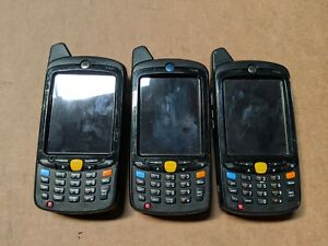 Lot Of 3x Motorola Mc67 Mc67na pdadab00500 Android Barcode Scanner