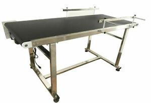 Powered 59 X 19 6 Stainless Coding Conveyor Belt Conveyors Material Handle