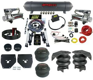 Complete 3 Preset Height Level Ride Air Suspension Kit Gm C10 73 87 580 Chrome