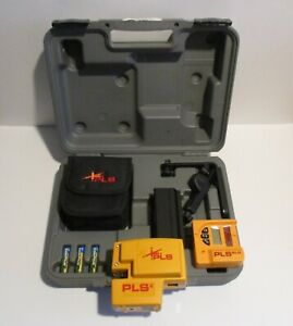 Pls 4 System Red Cross Line Laser Level With Plumb Bob And Level